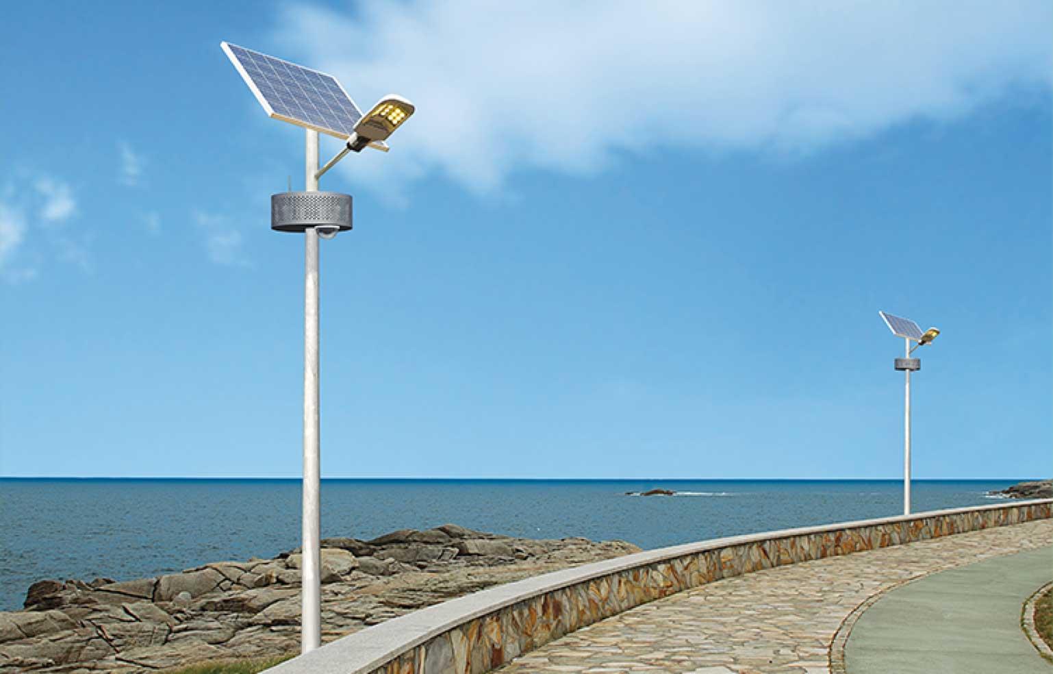 Poste de capitação de energia solar